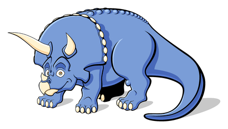triceratops: Illustration of Triceratops for children  Isolated on white background  Illustration