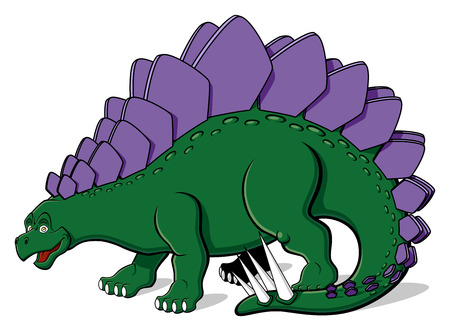 stegosaurus: Illustration of Stegosaurus for children  Isolated on white background