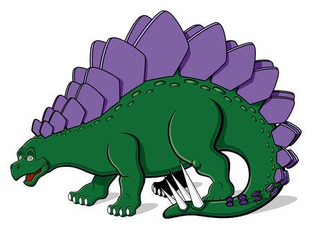stegosaurus: Ilustración de Stegosaurus para los niños aislados en el fondo blanco