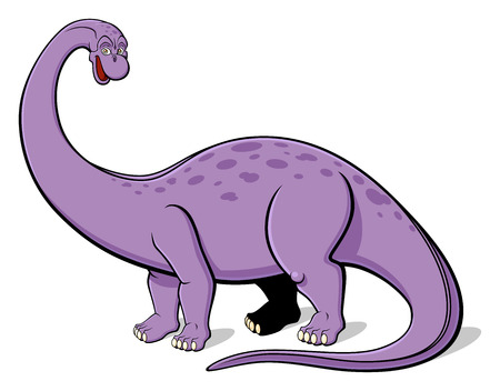 Illustration of Apatosaurus for children  Isolated on white background  Vector