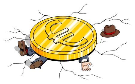 crisis economica: Ilustración conceptual sobre la crisis económica