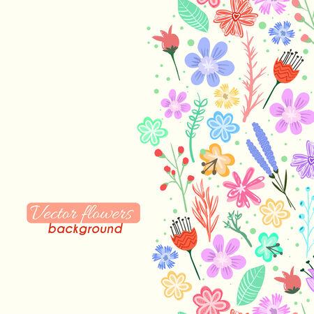 flowers background: Vector flores de colores de fondo