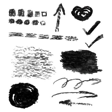 Set di elementi di design vettoriale carbone Vettoriali