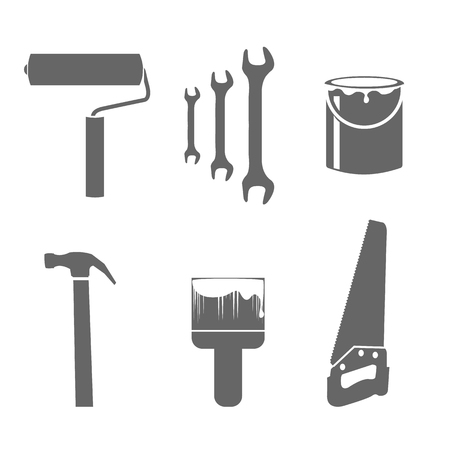 remodel: House remodel tools icons set