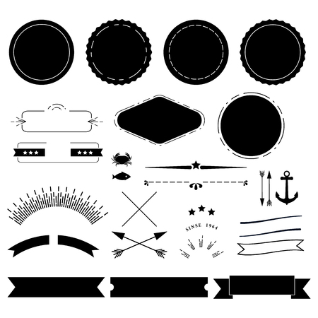 devider: Retro labels elements kit Illustration
