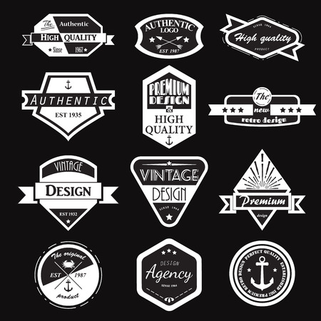 logotypes: Retro Vintage Logotypes set.