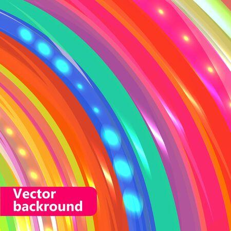 Stripe lumineux et coloré abstrait