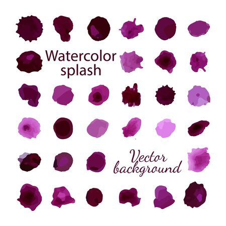 tip style design: Vector illustration. Colorful watercolor splashes isolated on white background
