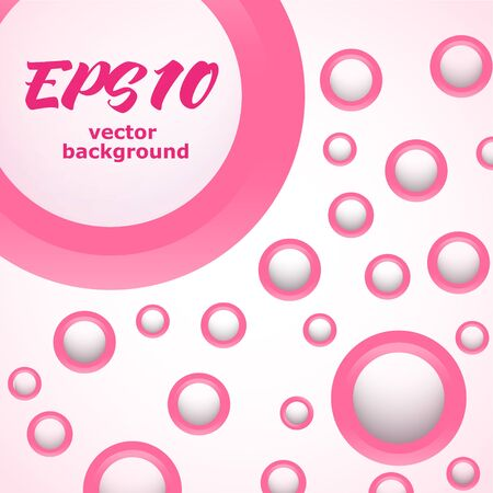 Abstract background with pink rings Çizim
