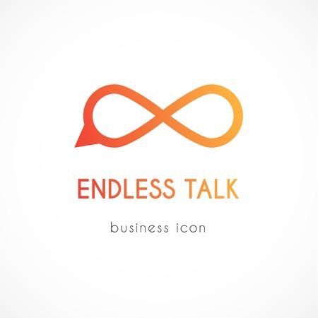 Endless talk vector business icon Çizim