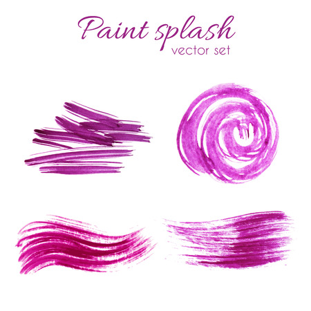 Vector paint staines set. Grunge texture design elements.