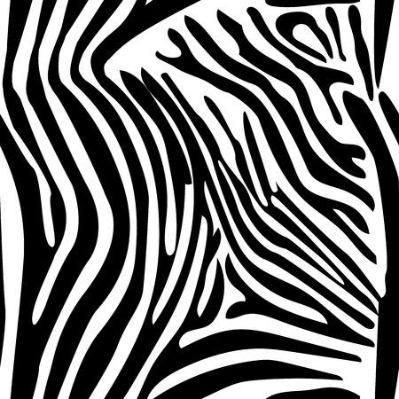 Zebra Stripes Seamless Pattern Backround Vector Illustration Çizim
