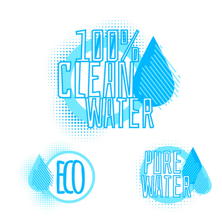 Set of three clear water icons