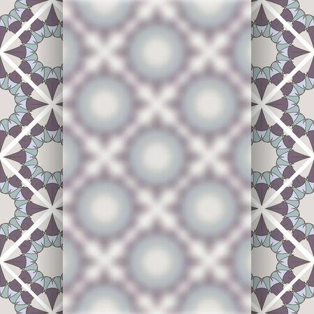 Matt glass over vintage vector pattern Çizim