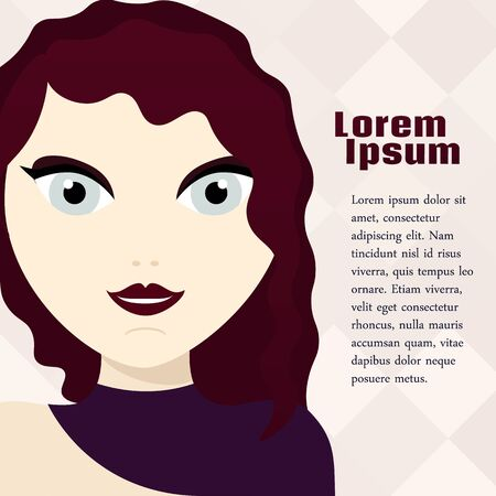 woman background: Beautiful vector woman background