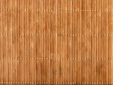 Empty Brown Chinese Bamboo Table Mat Background photo