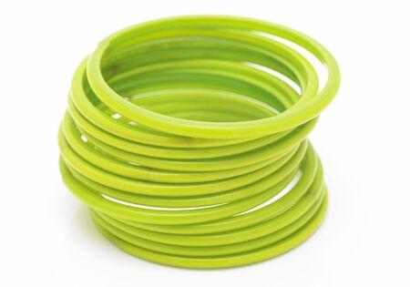 dozen: A dozen of green color bangles