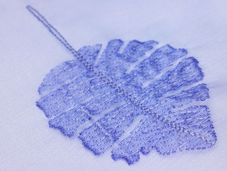 A blue background with leaf pattern photo