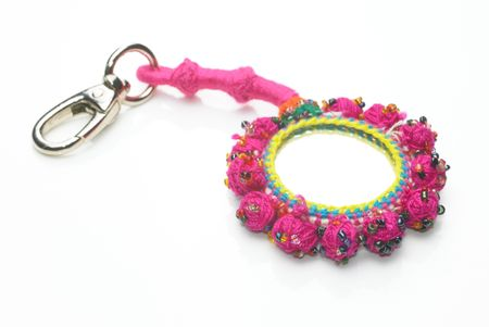 color key:  A pink color key chain Stock Photo