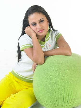 Teenage girl in a relaxed mood Stock Photo - 4629567