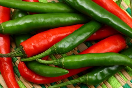 intense flavor:  Fresh red and green chilies