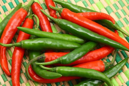 hotness: Fresh red and green chilies
