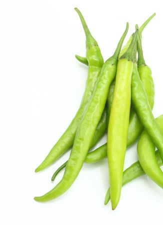 intense flavor: Group of green chilies
