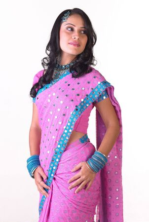 Gorgeous Indian lady with pink costume Stock Photo - 4644519