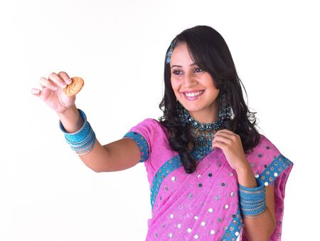Cute girl with nice smile and jewelery Stock Photo - 4644551