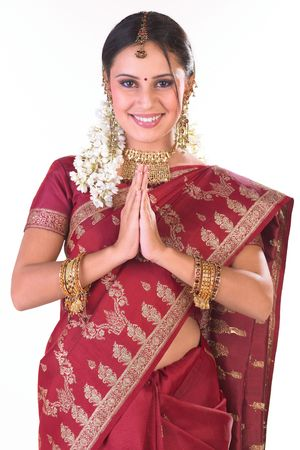 Indian girl in inviting posture Stock Photo