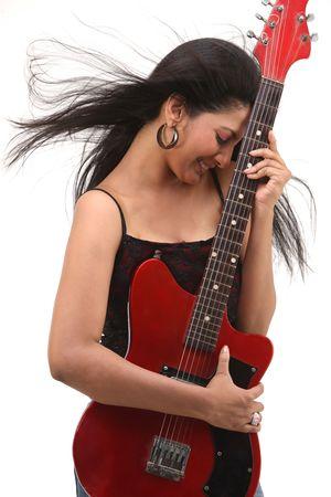 glamorous girl with guitar Stock Photo - 4673517