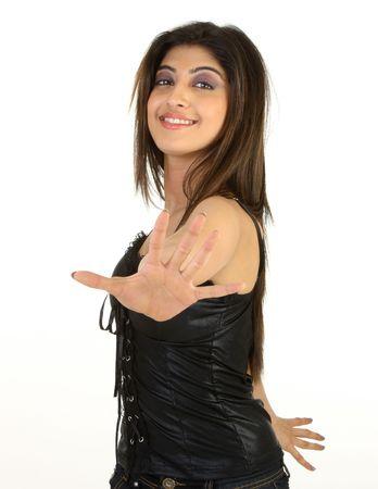 Girl in dancing pose photo