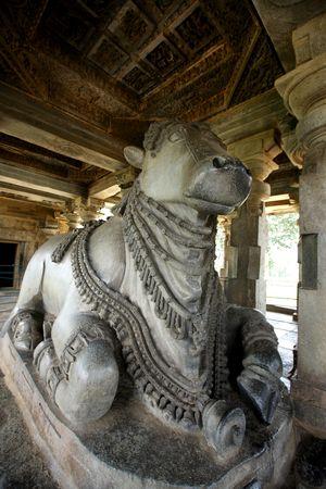 nandi:  bull mount of hindu god shiva.