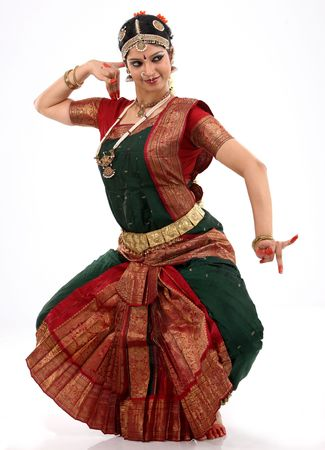 bharatanatyam dance: woman doing dancing posture Stock Photo