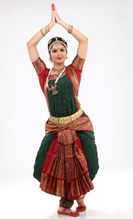 bharatanatyam dance: Tradition woman doing traditional dance Stock Photo