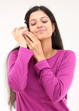 woman holding shell photo