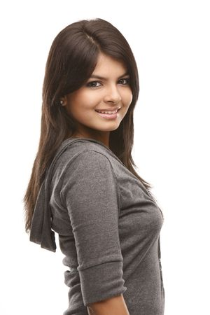 Indian teenage girl in happy expression Stock Photo