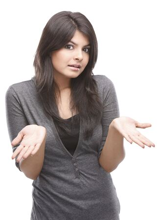 Modern girl in a surprised expression Stock Photo