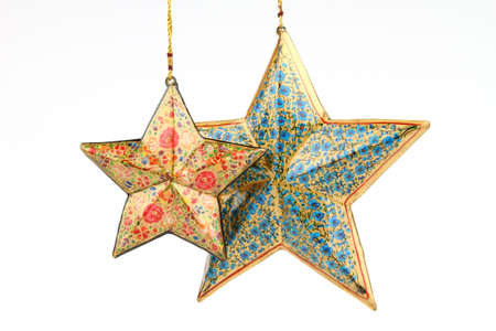 starsign: Two different color stars Stock Photo