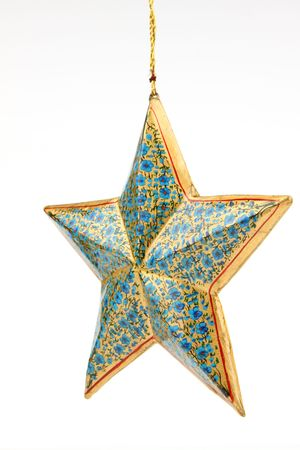 Single blue color star photo