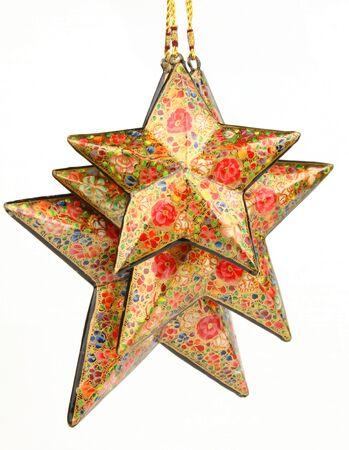 Three red colored stars photo