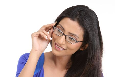 Happy teenage girl with eyeglasses Stock Photo - 6148905
