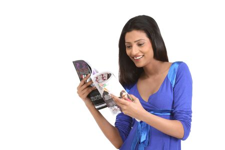 Woman reading the book photo