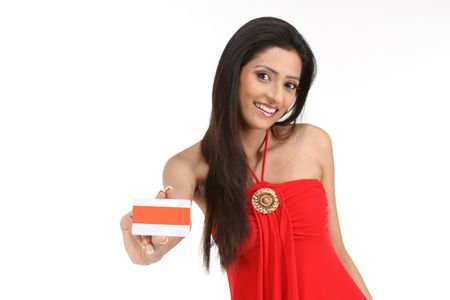 woman going on vacation with her credit card Stock Photo - 6170697