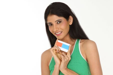 Beautiful woman with credit card photo