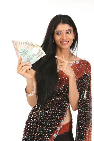 Dinero de explotaci�n de joven  Foto de archivo - 6172973