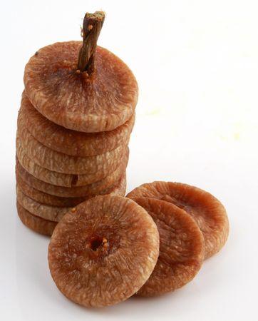frutas secas: Mont�n de higos secos Foto de archivo
