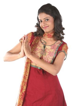 Indian teenage girl in inviting pose