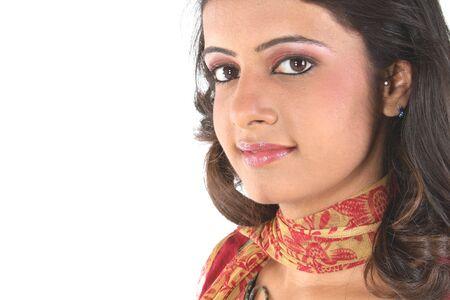 teenage girl dress:  closeup of indian teenage girl