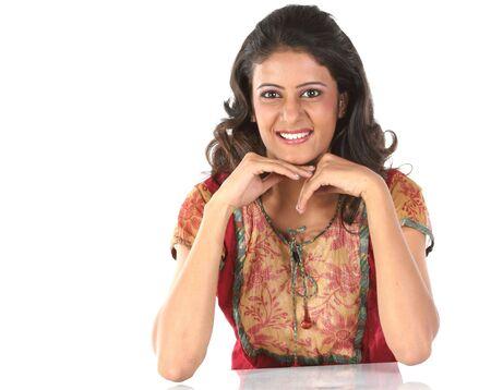 Indian smiling teenage girl